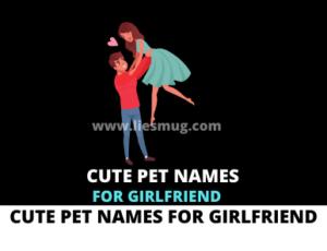 Cute Pet Names For Girlfriend