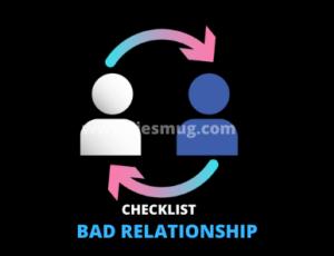 Bad Relationship Checklist